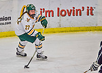 1 February 2015: University of Vermont Catamount Defender Taylor Willard, a Freshman from Naperville, IL, in third period action against the visiting Providence College Friars at Gutterson Fieldhouse in Burlington, Vermont. The Lady Cats defeated the Friars 7-3 in Hockey East play. Mandatory Credit: Ed Wolfstein Photo *** RAW (NEF) Image File Available ***