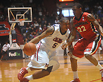 Ole Miss guard Dundrecous Nelson (5)  is fouled by  Georgia's Gerald Robinson (22) at the C.M. &quot;Tad&quot; Smith Coliseum in Oxford, Miss. on Saturday, January 15, 2011. Georgia won 98-76.  (AP Photo/Oxford Eagle, Bruce Newman)