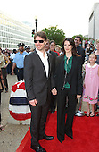 "Tom Cruise, narrator of the new film ""Imax Space Station 3D"", and Penelope Cruz arrive at the National Air and Space Museum for the premiere of the movie in Washington, D.C. on April 17, 2002..Credit: Ron Sachs / CNP"