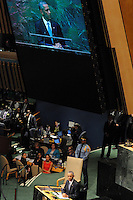 NEW YORK, USA - SEPT 25, U.S. president Barack Obama waits his turn to speech making the case for a world-wide coalition against ISIS during the 69 session of the General Assembly on September 25.2014 photo by VIEWpress