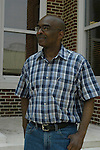 Ben Chaney,younger brother of slain civil rights worker James Chaney, reflects on the sentence of Edgar ray Killen outside the Neshoba County Court House Thursday June 23,2005 in Philadelphia,Ms. Killen recieved the maxium sentence of 60 years he was found guilty of manslaughter for the three civil rights workers james Chaney,Andrew Goodman and Michael Schwerner. (Photo/Suzi Altman)