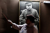 At the Stalin museum in Gori, central Georgia, where the Soviet dictator was born.