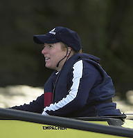 London, GREAT BRITAIN. Oxford University Boat Club Trail VIIIs.Putney to Mortlake. Health and Safety.Health -  cox Megan Patrick.. Varsity: Boat Race  [Mandatory Credit: Peter Spurrier: Intersport Images]