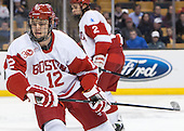 Dillon Lawrence (BU - 12) - The Boston College Eagles defeated the Boston University Terriers 3-1 (EN) in their opening round game of the 2014 Beanpot on Monday, February 3, 2014, at TD Garden in Boston, Massachusetts.