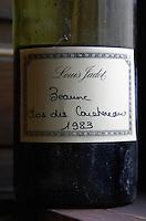 a wine bottle label