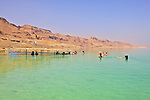 People Enjoying The Dead Sea