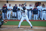 Ole Miss' Senquez Golson (7) hits an infield single vs. Arkansas State in baseball action at Oxford-University Stadium in Oxford, Miss. on Tuesday, February 21, 2012. Ole Miss won the home opener 8-1 to improve to 2-1 on the season. Arkansas State dropped to 0-3.
