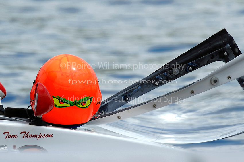 "The helmet of Tom Thompson, A-52 ""Fat Chance Too""  (2.5 MOD class hydroplane(s)"