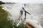 Tropical Storm Debby batters Shell Point in Wakulla County south of Tallahassee June 24, 2012.