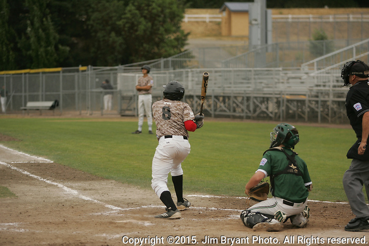 Arizona vs.  Southern California in game 1 of the 2015 West Central District 2 BLBB playoffs at Blue Jacket Stadium in Silverdale Washington. ©2015. Jim Bryant photo. All Rights Reserved.