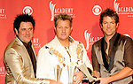 Rascal Flatts in the Press Room for the 2009 Academy Of Country Music Awards at the MGM Grand in Las Vegas on April 5th, 2009.