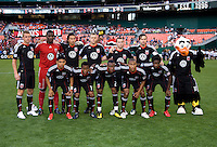 D.C. United lines up before the game at RFK Stadium in Washington, DC.  The Colorado Rapids defeated D.C. United, 1-0.