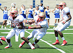 Lafayette High's Demarkous Dennis (5) runs vs. Evangel Christian in Shreveport, La.  on Saturday, September 10, 2011. Lafayette High won 35-34.