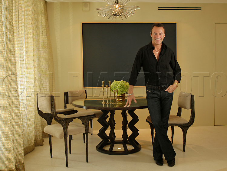 1-23-08 Al Diaz / Miami Herald--Colin Cowie,  just released a new lifestyle book about how to throw parties, entertain guests, etc. (Colin Cowie Chic: The Guide to Life As it Should Be.) Here he is at his Condo on South Beach.