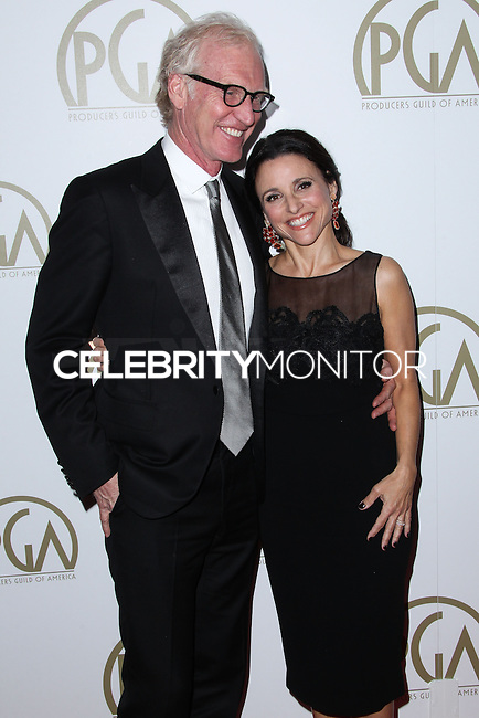 BEVERLY HILLS, CA - JANUARY 19: Brad Hall, Julia Louis-Dreyfus at the 25th Annual Producers Guild Awards held at The Beverly Hilton Hotel on January 19, 2014 in Beverly Hills, California. (Photo by Xavier Collin/Celebrity Monitor)
