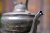 A traditional Moroccan teapot, at Tetouan, in the Rif mountains of Northern Morocco. Picture by Manuel Cohen