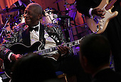 Blues legend B.B. King performs with an all-star cast at a White House event titled In Performance at the White House: Red, White and Blues, February 21, 2012 in Washington, DC.  As part of the In Perfomance series, music legends and contemporary major artists have been invited to perform at  the White House for a celebration of Blues music and in recognition of Black History Month. The program featured performances by Troy &quot;Trombone Shorty&quot; Andrews, Jeff Beck, Gary Clark, Jr., Shemekia Copeland, Buddy Guy, Warren Haynes, Mick Jagger, Keb Mo, Susan Tedeschi and Derek Trucks, with Taraji P. Henson as the program host and Booker T. Jones as music director and band leader.  .Credit: Win McNamee / Pool via CNP