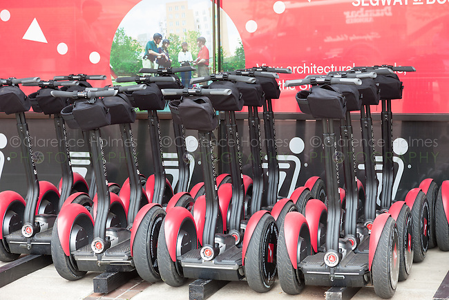 Segway personal electric transportation units used by a tour operator in Boston, Massachusetts