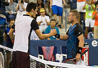 BERNARD TOMIC (AUS), LLEYTON HEWITT (AUS)<br /> <br /> The US Open Tennis Championships 2015 - USTA Billie Jean King National Tennis Centre -  Flushing - New York - USA -   ATP - ITF -WTA  2015  - Grand Slam - USA  <br /> <br /> &copy; AMN IMAGES