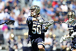 DURHAM, NC - APRIL 08: Notre Dame's Ryder Garnsey. The Duke University Blue Devils hosted the University of Notre Dame Fighting Irish on April 8, 2017, at Koskinen Stadium in Durham, NC in a Division I College Men's Lacrosse match. Duke won the game 11-8.