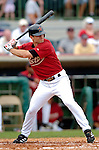 10 March 2006: Chris Burke, infielder for the Houston Astros, at bat during a Spring Training game against the Washington Nationals. The Astros defeated the Nationals 8-6 at Osceola County Stadium, in Kissimmee, Florida...Mandatory Photo Credit: Ed Wolfstein..