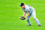 25 July 2010: Tri-City ValleyCats outfielder Daniel Adamson in action against the Vermont Lake Monsters at Centennial Field in Burlington, Vermont. The ValleyCats came from behind to defeat the Lake Monsters 10-8 in NY Penn League action. Mandatory Credit: Ed Wolfstein Photo