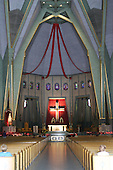 Interior of Our Lady of the Cape Basilica in Three-Rivers, Quebec.