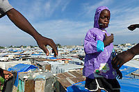 Port au Prince, Haiti, April 18, 2010.The 'Pisaviyasyon' IDP camp is one of many in and around Port au Prince. Over a million people are living in such camps 3 months after the earthquake.