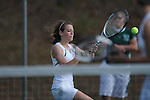 Lafayette's Abbey Pate vs. Mooreville in tennis action at Ole Miss in Oxford, Miss. on Wednesday, March 23, 2011.