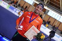 SPEEDSKATING: BERLIN: Sportforum Berlin, 28-01-2017, ISU World Cup, 1000m Men A Division, Kjeld Nuis (NED), Track record, ©photo Martin de Jong