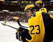 The University of Michigan men's ice hockey team lost, 4-0, to Michigan Tech in the Great Lakes Invitational semifinals at Joe Louis Arena in Detroit, Mich., on December 29, 2012.