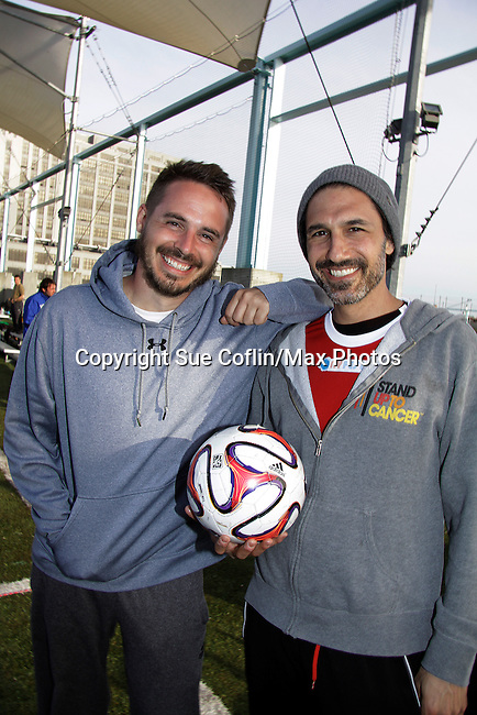 Celebs - One Life To Live and One Tree Hill Brett Claywell, Survivor Winner Ethan Zohn (founder of Grassroots) and more participated in NYFEST - a celebrity soccer tournament lasting all day on April 19, 2014 at Pier 5, Brooklyn Bridge Park, Brooklyn, New York.  (Photo by Sue Coflin/Max Photos)