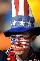 A USA fan. Brazil defeated USA 3-0 during the FIFA Confederations Cup at Loftus Versfeld Stadium in Tshwane/Pretoria, South Africa on June 18, 2009.
