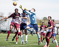 The College of Charleston Cougars played the  Georgia Southern Eagles in The Manchester Cup on April 5, 2014.  The Cougars won 2-0.  Robert Flott (0), Lasse Palomaki (21), Tanner Clay (5)