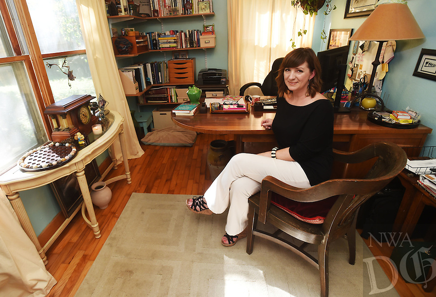 NWA Democrat-Gazette/MICHAEL WOODS &bull; @NWAMICHAELW<br /> Amy Robinson in her favorite space at her home office September 27, 2016 in Fayetteville.