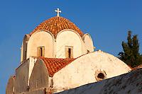 Byzantine Greek Orthodox Church dome, Hydra,  Greek Saronic Islands