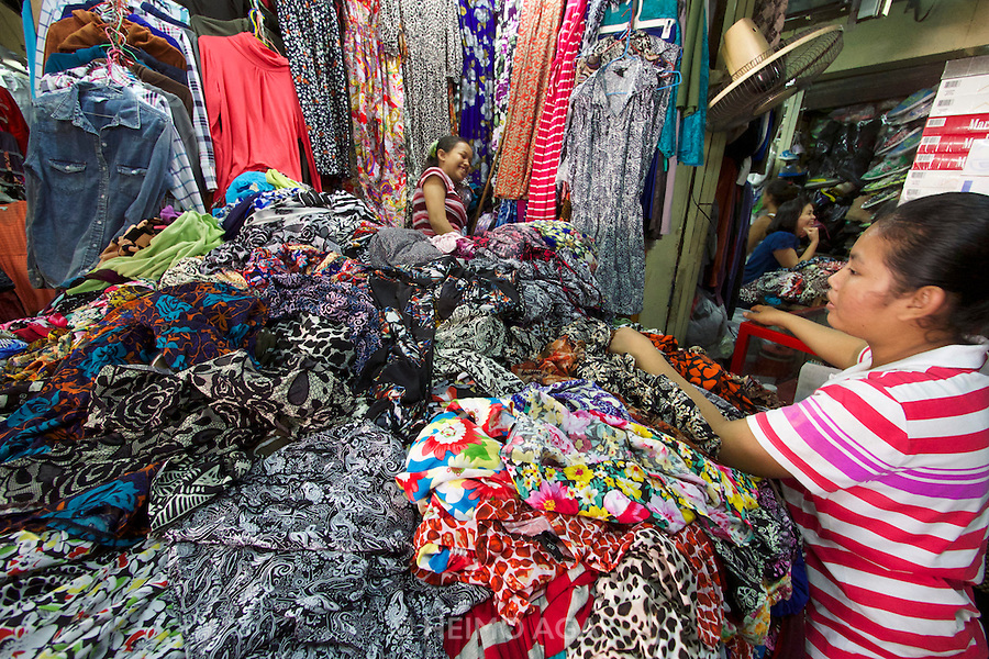 Phnom Penh, Cambodia. Russian Market, famous for clothes.
