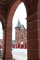 Historic firehouse in downtown Calumet Michigan.