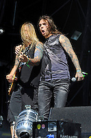 DERBYSHIRE, ENGLAND - AUGUST 12:  Rich Ward and Robby J. of 'Stuck Mojo' performing at Bloodstock Open Air Festival, Catton Park on August 12, 2016 in Derbyshire, England.<br /> CAP/MAR<br /> &copy;MAR/Capital Pictures /MediaPunch ***NORTH AND SOUTH AMERICAS ONLY***