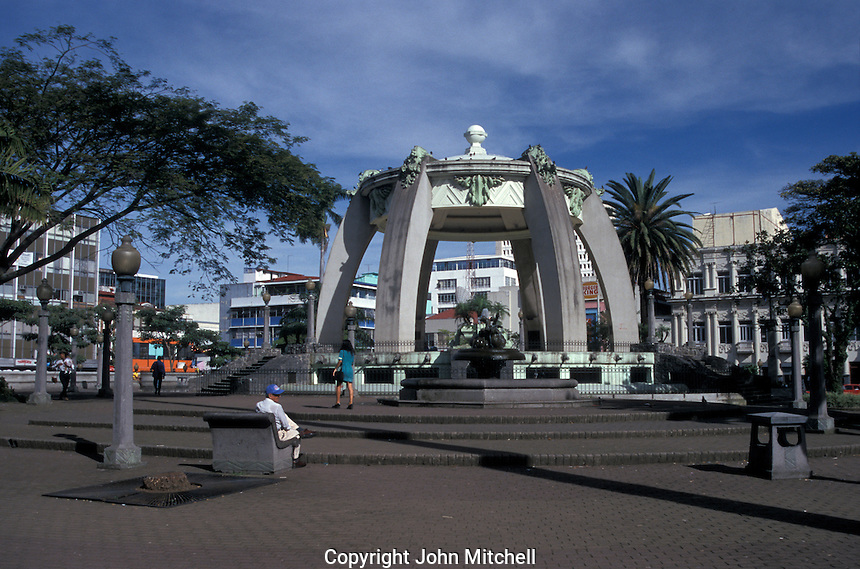 The Parque Central in downtown San Jose, Costa Rica