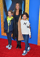 LOS ANGELES, CA. December 3, 2016: Actress Garcelle Beauvais &amp; sons Jaid Thomas Nilon &amp; Jaid Thomas Nilon at the world premiere of &quot;Sing&quot; at the Microsoft Theatre LA Live.<br /> Picture: Paul Smith/Featureflash/SilverHub 0208 004 5359/ 07711 972644 Editors@silverhubmedia.com