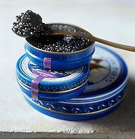 Gastronomie Générale: Caviar Français issu d'esturgeon  Baeri d'élevage  - Stylisme : Valérie LHOMME