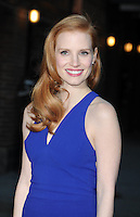 """Jessica Chastain arrives at """"The Late Show"""" -  New York"""