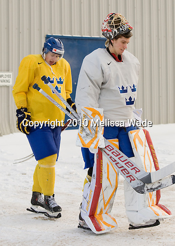 ?, Jacob Markstrom (Sweden - 25) - Team Sweden practiced at Agriplace in Saskatoon, Saskatchewan on Saturday, January 2, 2010, during the 2010 World Juniors tournament.