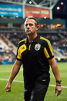 Columbus Crew head coach Robert Warzycha. The Columbus Crew defeated the Philadelphia Union 2-1 during a Major League Soccer (MLS) match at PPL Park in Chester, PA, on August 29, 2012.