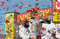 9-10 July, 2016 Newton, Iowa USA<br /> Winner Josef Newgarden (#21) celebrates in Victory Lane.<br /> &copy;2016, F. Peirce Williams