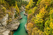 Shotover River in autumn, Queenstown, New Zealand