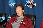 08 December 2007: Amanda DaCosta. The Florida State University Seminoles held a press conference at the Aggie Soccer Stadium in College Station, Texas one day before playing in the NCAA Division I Womens College Cup championship game.