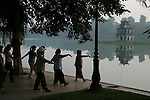 Tai chi is popular with mostly Vietnamese ladies.  Hoan Kiem Lake or &quot;Lake of the Returned Sword&quot; is located in the historical center of Hanoi, the capital of Vietnam and one of the more scenic spots in the city and also serves as a focal point for its public life.