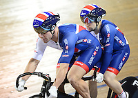 Picture by Simon Wilkinson/SWpix.com - 05/03/2017 - Cycling 2017 UCI Para-Cycling Track World Championships, Velosports Centre, Los Angeles USA -  Matthew ROTHERHAM,James FACHIE